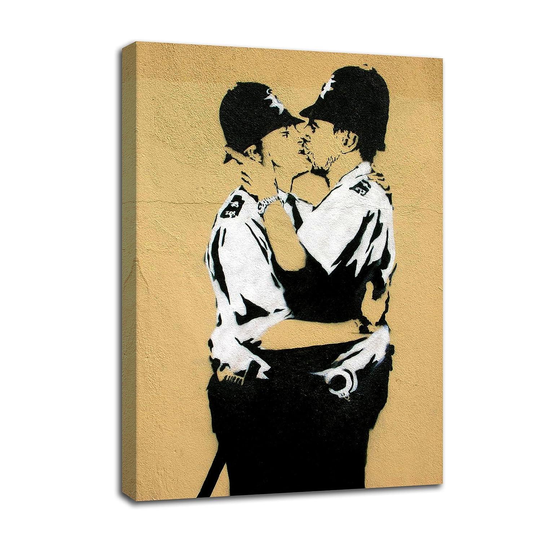 Amazon.com: Laiwang Modern HD Banksy Art Canvas Prints Two Man ...