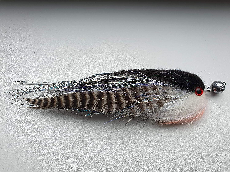 pike FISHIN ADDICT Salt n Pepper fishing jig fly 5g Cheb perch 180mm Sea bass