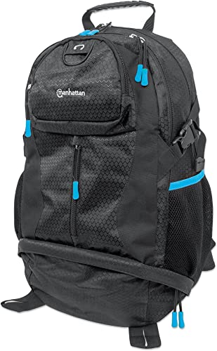Manhattan Products Trekpack Carrying Case Backpack - Black Blue 439756