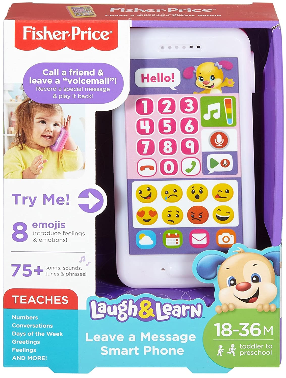 Amazon Fisher Price Laugh Learn Leave A Message Smart Phone