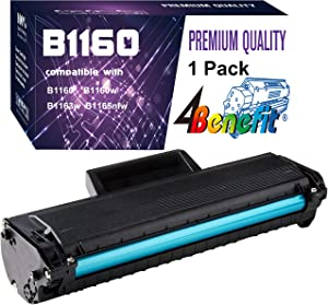 (1-Pack, Black) 4Benefit Compatible YK1PM 331-7335 HF44N HF442 1160 Toner Cartridge Used for Dell B1160 B1160w B1163w B1165nfw Laser Printers