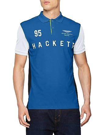 HKT by Hackett AMR HKT Polo, Multicolor (Blue/Multi 5AL), S para ...