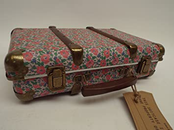 FLORAL VINTAGE SUITCASE STORAGE DISPLAY HOME DECOR OLD FASHIONED ...