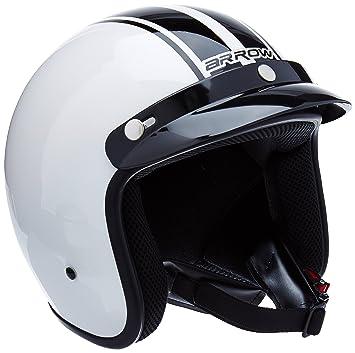 """Armor · AV-47 """"White"""" (white) · Casco moto Demi Jet"""