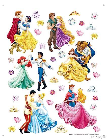 Conosciuto AG Design - Principesse Disney con Principi, Decorazione Murale  VN48
