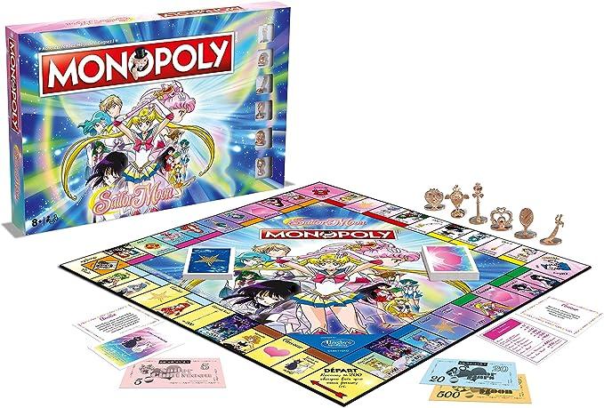 Winning Moves Winning moves-0460-monopoly Sailor Moon, 0460, Version Francesa: Amazon.es: Juguetes y juegos