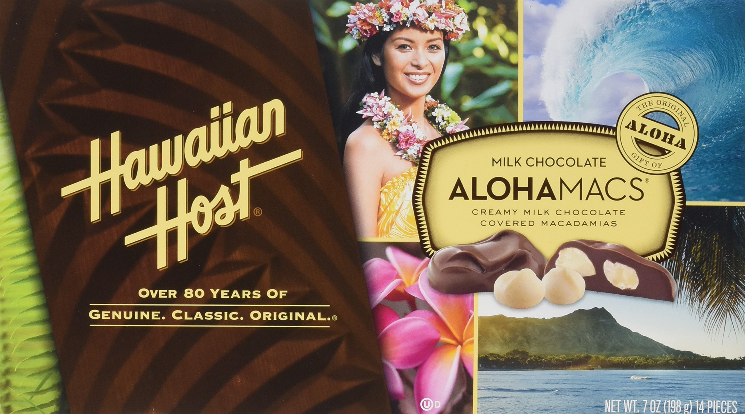 Hawaiian Host Aloha Macs Milk Chocolate Macadamia Nuts (7 ounce box, 14 pieces) (1 Box) by Hawaiian Host