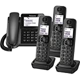 Panasonic KX-TGF324E Corded and Cordless Nuisance Call Block Combo Telephone Kit - Quad Set