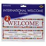International Welcome Banners (asstd designs) Party Accessory  (1 count) (2/Pkg)