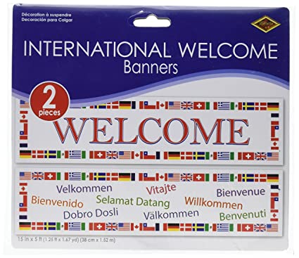 Amazon.com  International Welcome Banners (asstd designs) Party ... 191e9d30815