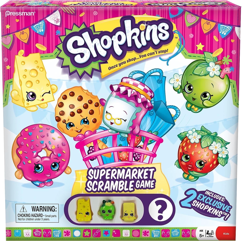 Amazon Com Shopkins Supermarket Scramble Game With 4 Exclusive