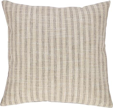 "Cojines conjunto de 4 3 tonos Cushion Covers Blanco Negro Gris 17/""x17/"""