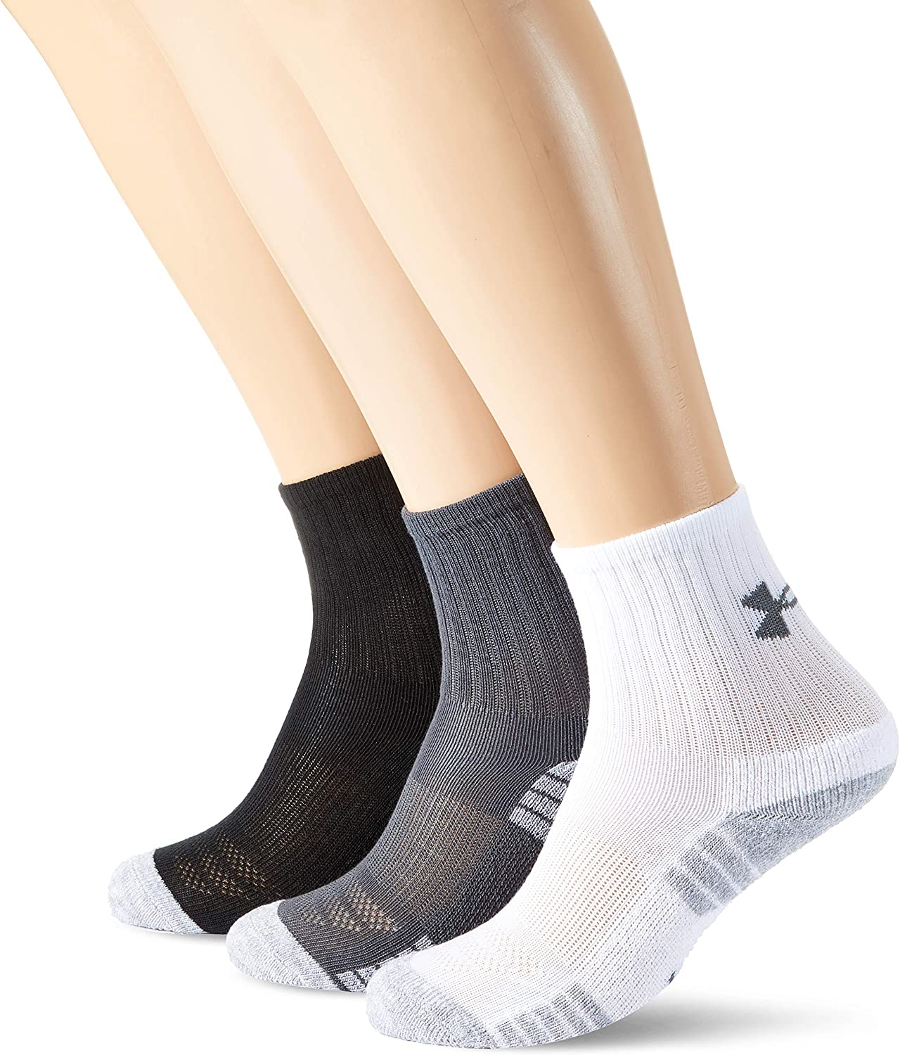 Amazon.com: Under Armour HeatGear Training Crew Socks 3 Pk ...