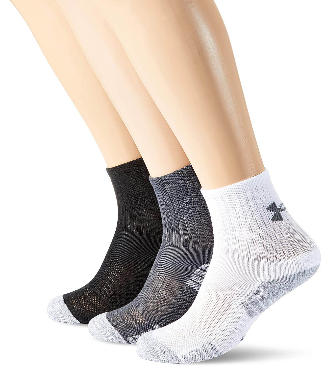 Under Armour Heat Gear Crew Calcetines, Unisex-Youth, Gris ...