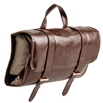 Hanging Toiletry   Makeup Travel Bag  Leather Cosmetic   Toiletries Bags  for Men   Women c849882dd980b