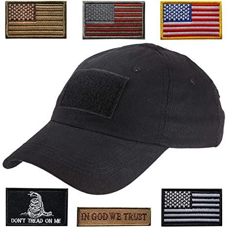 f7a51124167 Amazon.com   Lightbird Tactical Hat with 6 Pieces Tactical Military ...