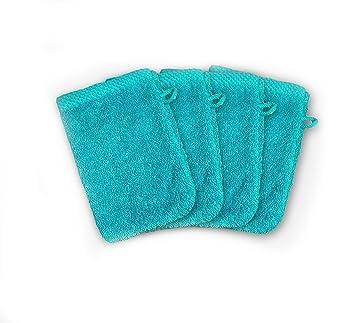 ADP Home - Pack Toallas 550 Grms 4Piezas (Toalla Manopla) 100% Algodón Peinado Color - Turquesa Talla - 15x21 cm: Amazon.es: Hogar