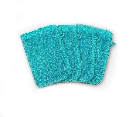 ADP Home - Pack Toallas 550 Grms 4Piezas (Toalla Manopla) 100% Algodón Peinado