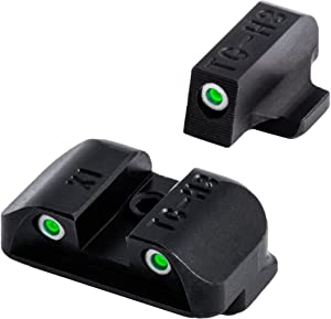 """TRUGLO Tritium Handgun Glow-in-The-Dark Night Sights for Springfield Pistols, Springfield XD, XDM (excluding 5.25"""" Comp Series) and XDS"""