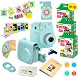 Fujifilm Instax Mini 9 Instant Camera ICE Blue w/Fujifilm Instax Mini 9 Instant Films (60 Pack) + A14 Pc Deluxe Bundle for Fujifilm Instax Mini 9 Camera