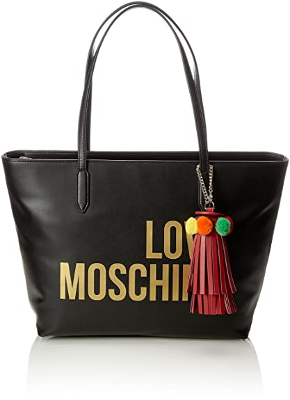 e6f29945de Amazon.com: LOVE Moschino Women's Love Moschino Tote w/Tassel Black One  Size: Shoes