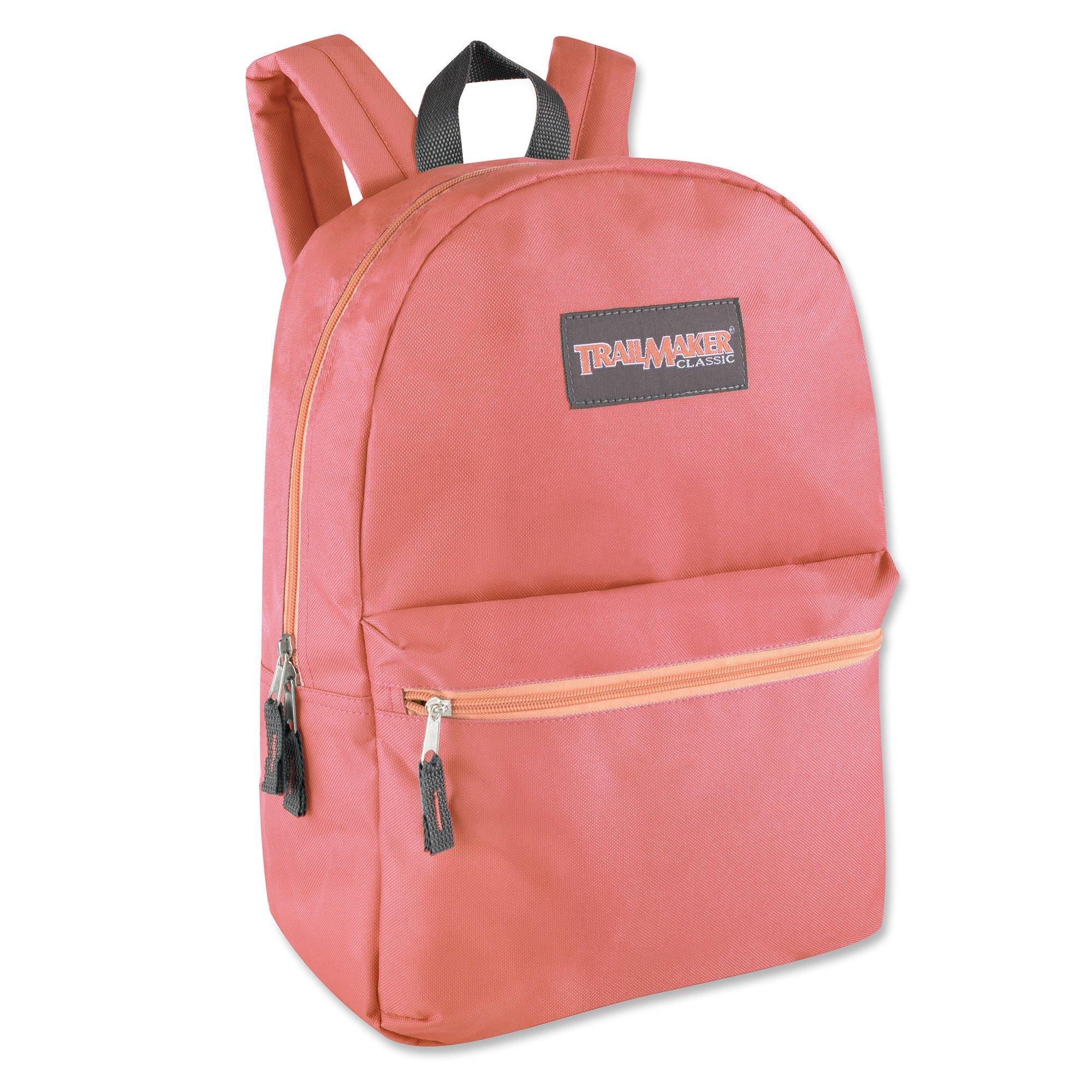 17'' Trailmaker Backpack Dark Peach w Peach Zipper by Trail maker (Image #1)