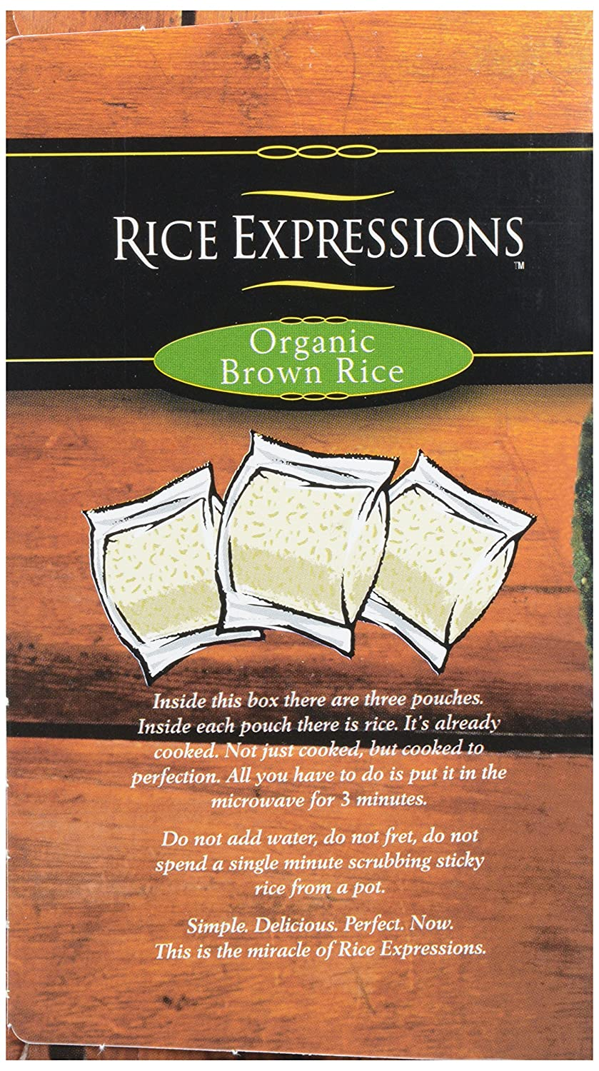 Rice Expressions Brown Rice, 100%anic, 30 Oz (frozen): Amazon How To Cook  Rice In The Microwave