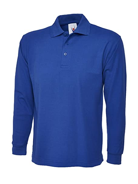Camiseta polo de manga larga para hombre. Ideal para deportes ...