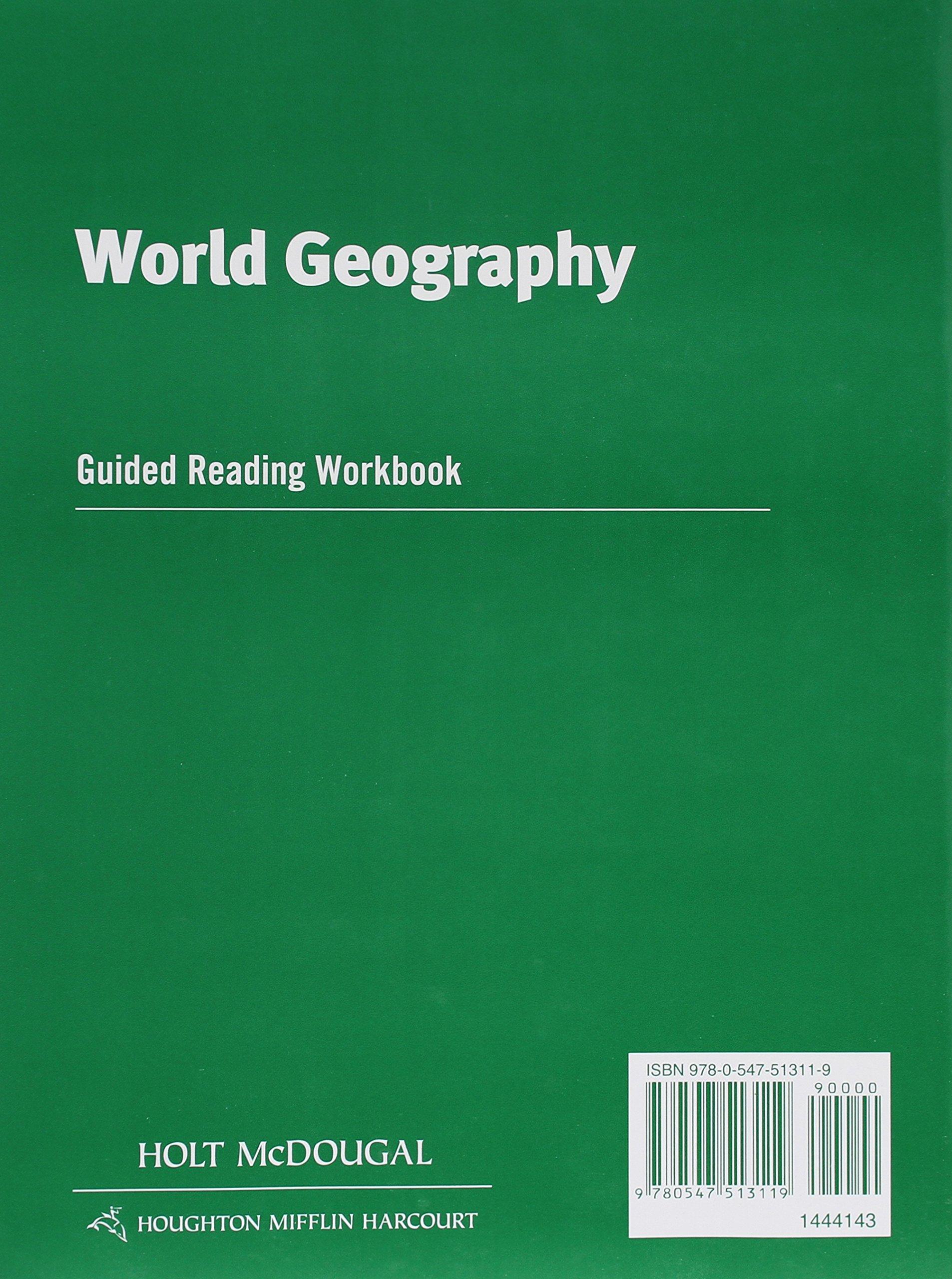 World Geography: Guided Reading Workbook: HOLT MCDOUGAL: 9780547513119:  Amazon.com: Books