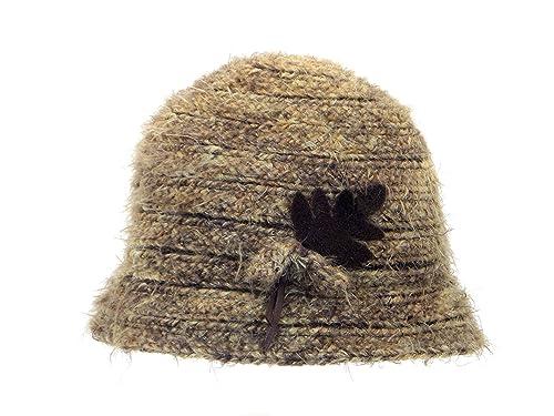 Cappoellas Sombrero con hoja lana suave