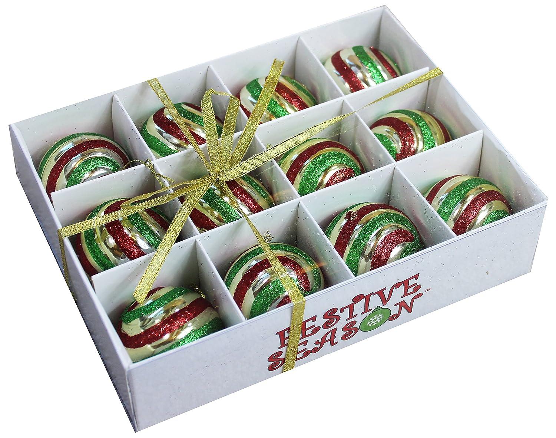Amazon.com: Festive Season Vintage Style Christmas Tree Ornament ...