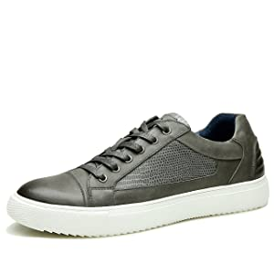 ECCO Men's Atlanta Lace Fashion Sneakers (43, Gray)