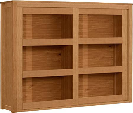 Loft24 A S Hanging Wall Mounted Cabinet Kitchen Storage Unit Solid Pine Wood 2 Sliding Glass Doors Country Style 130 X 28 X 100 Centimeter Amazon Co Uk Kitchen Home