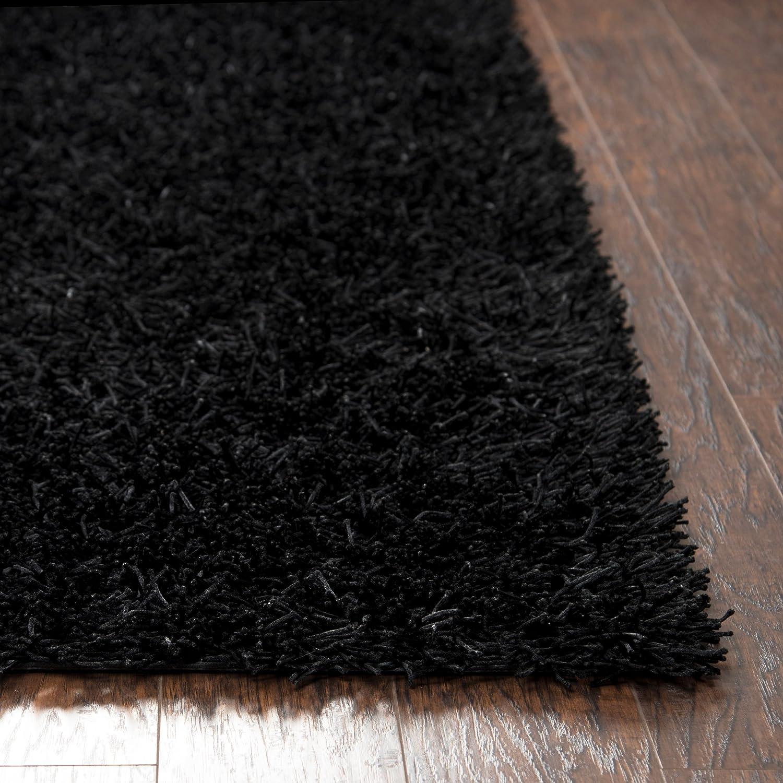 Kempton polyester area rug burgundy merlot colored 3 x3 area rugs - Amazon Com Riz Kidz Kempton Shag Rug Black 5 X 7 Kitchen Dining