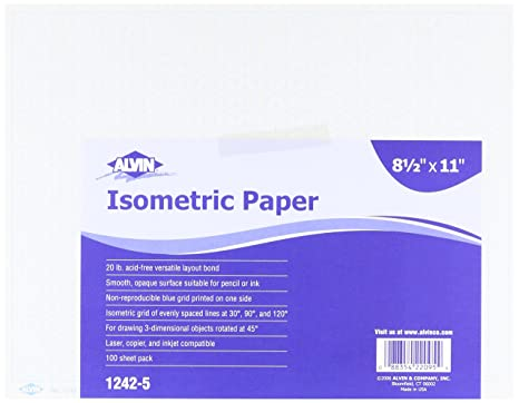AmazonCom Alvin  Isometric Paper Sheet Pack  Inches