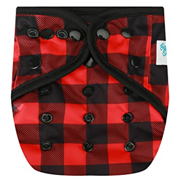 fca4a018856 Amazon.com : HappyEndingsTM One Size Cloth Diaper Cover AI2 System (Buffalo  Plaid) : Baby