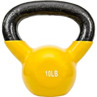 Sunny Health & Fitness Vinyl Coated Kettlebell Weights Available in 5Lbs, 10Lbs, 15Lbs, 20Lbs, or 25Lbs
