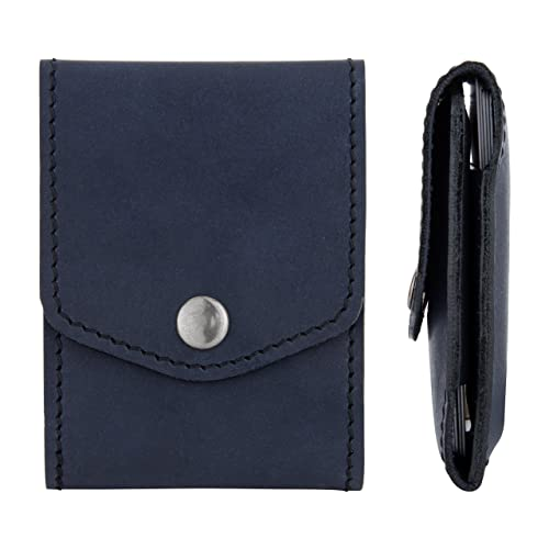 Amazon blue credit card holder leather slim wallet case for blue credit card holder leather slim wallet case for business men women pocket colourmoves
