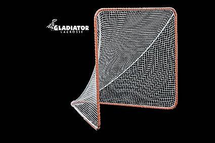 9a8041aa6eec8 Gladiator Official Lacrosse Goal Net, Orange, 100% Steel Frame, 6 x 6-Foot