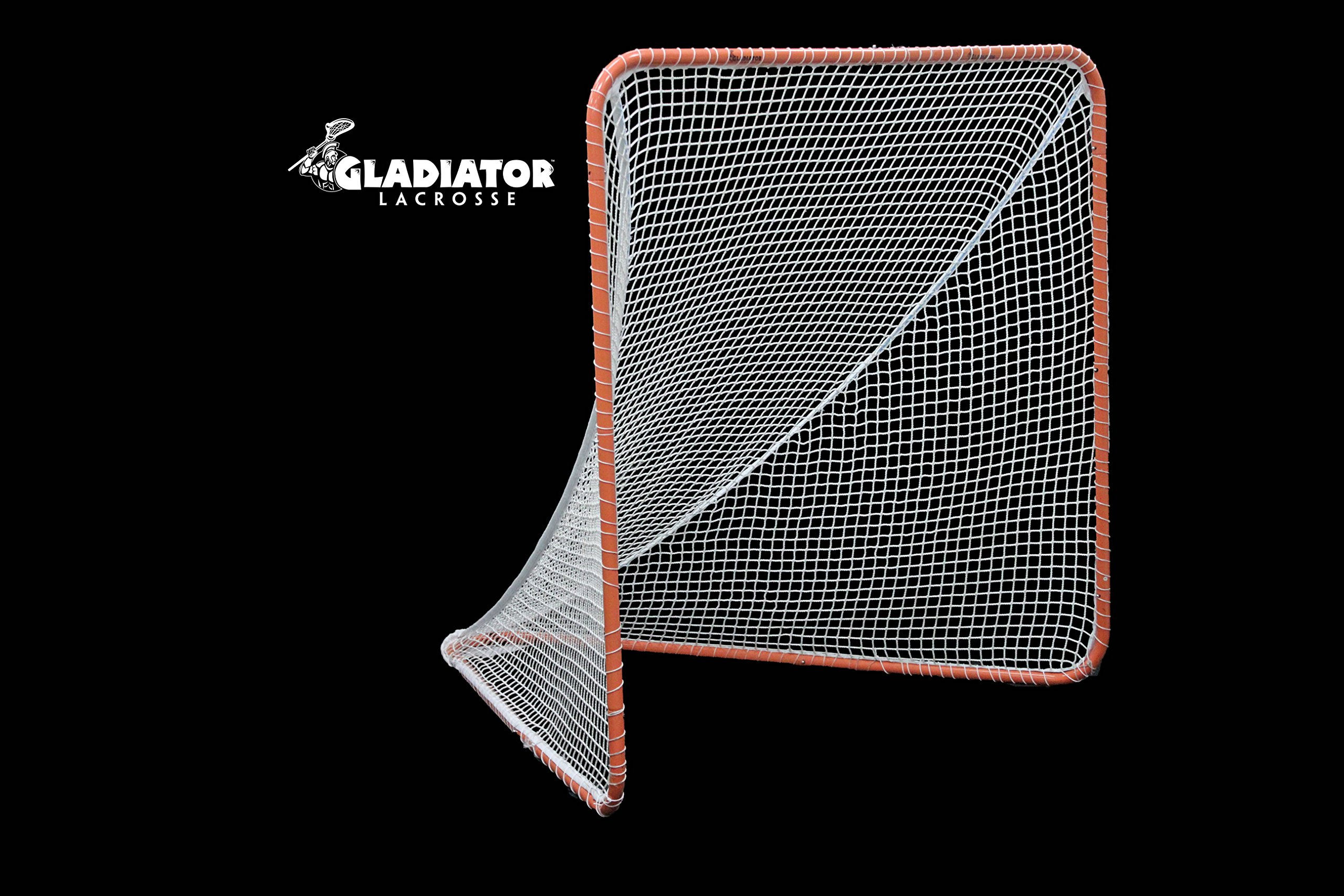 Gladiator Official Lacrosse Goal Net, Orange, 100% Steel Frame, 6 x 6-Foot