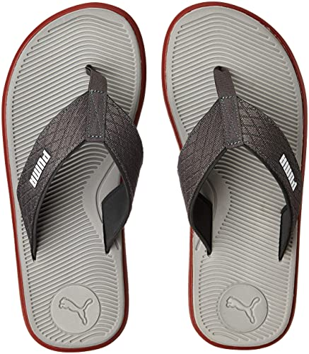 6cde8e6d39aa6 Puma Men s Pomegranate-Quarry-Dark Shadow Flip Flops Thong Sandals-10 UK