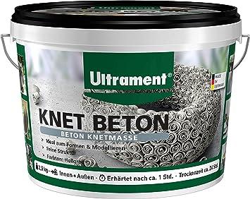 Ultrament Knet Beton Hochwertiger Knetbeton Fur Kreative Deko Ideen 2 5 Kg Amazon De Kuche Haushalt