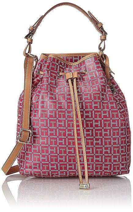 Tommy Hilfiger Monogram Conv Drawstring Shoulder Bag