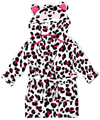Animal Girls Monkey Face Hood Fleece Dressing Gown Hooded Bathrobe Sizes  from 2 to 11 Years  Amazon.co.uk  Clothing 7cbb63a6f