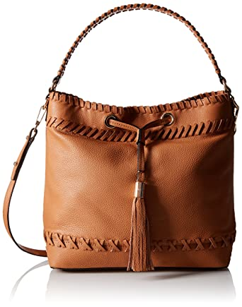 ad2c93fbcc9 Amazon.com: MILLY Astor Whipstitch Bucket Bag, Caramel, One Size ...