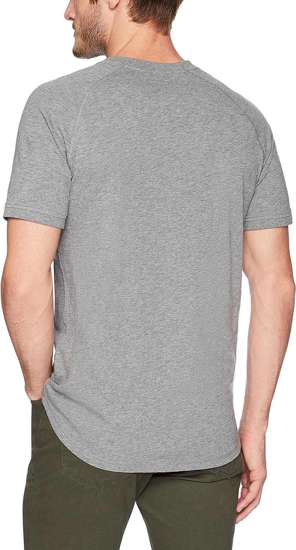 Short-Sleeve Lightweight Slub Henley Shorts Uomo Goodthreads