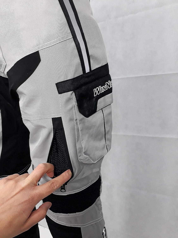 WinNet Completo tuta moto in cordura giacca e pantaloni per turismo viaggio 3XL