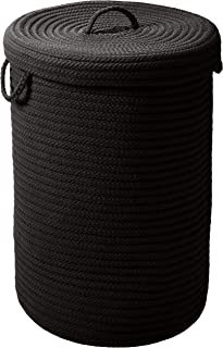 """product image for Simply Home Hamper w/lid - Black 18""""x18""""x30"""""""