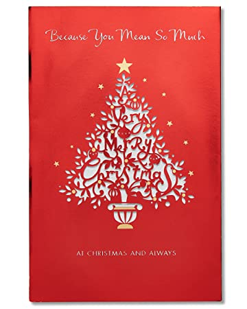 Amazon american greetings mean so much christmas card with american greetings mean so much christmas card with glitter m4hsunfo