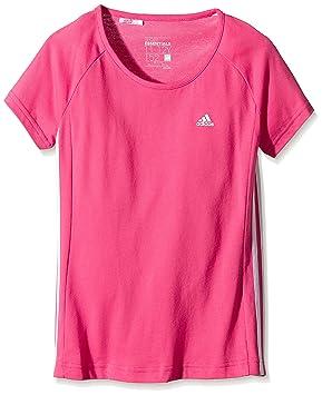 Adidas YG ESS M Camiseta - Rosa - Blanco, 164: Amazon.es: Deportes y aire libre